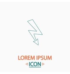 Lightning computer symbol vector