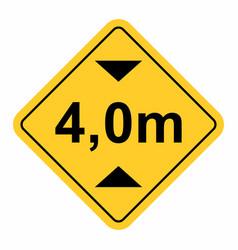 maximum height traffic sign vector image