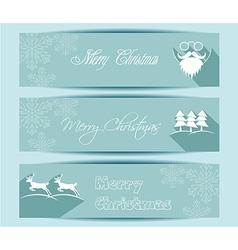 Merry Christmas banners set design vector image