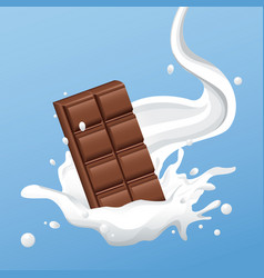 Milky chocolate bar flyer vector