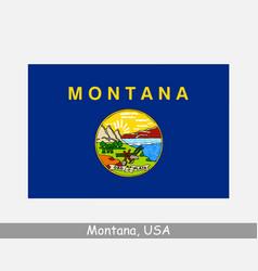 montana usa state flag mt usa vector image