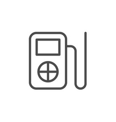 music player line outline icon vector image