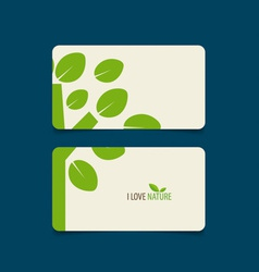 Nature banner Eco organic labels and cards vector image