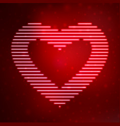 Neon icon heart vector