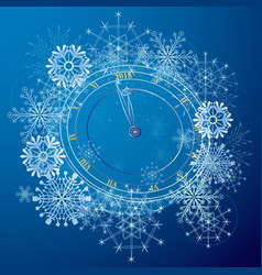 new year with clock vector image