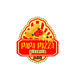 Papa pizza pizzeria italian icon vector