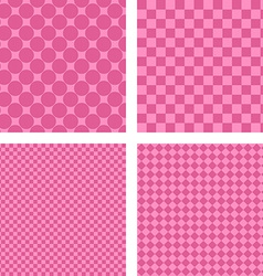 Pink simple geometric shape wallpaper set vector image