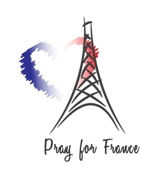Pray for France vector image