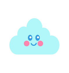princess party cloud andsmile vector image
