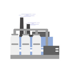 Refinery plant industrial manufactory building vector