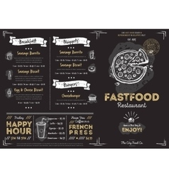 Restaurant cafe fast food menu template vector image