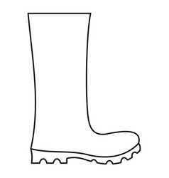Rubber boots icon thin line vector