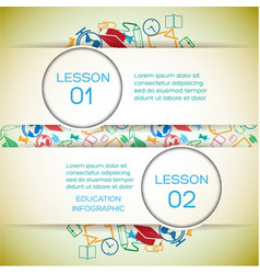 school learning infographic concept vector image