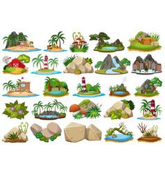Set island scene vector