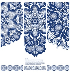 Set of banners with ethnic ornament vector image