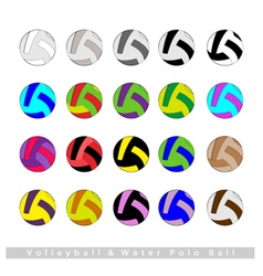 Set of Volleyball Balls or Water Polo vector