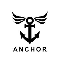 Ship anchor design vector