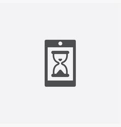 smartphone hourglass icon vector image