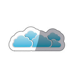 sticker set collection clouds tridimensional in vector image