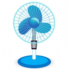 Table fan illustration vector