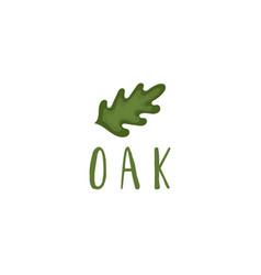 template logo design with oak tree vector image