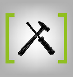 tools sign black scribble vector image