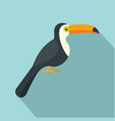 toucan icon flat style vector image