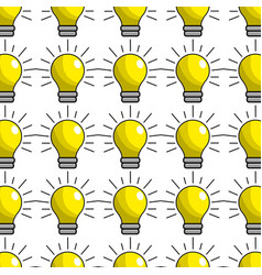 Traditional bulb light background vector