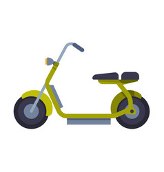 trendy electric scooter eco transport concept vector image
