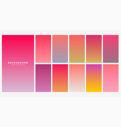 Vibrant collection of gradients for mobile app vector