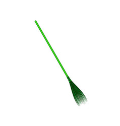 vintage broom in green design vector image
