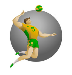 volleyball player on attack vector image