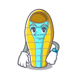 waiting sleeping bad mascot cartoon vector image