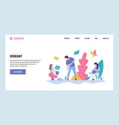 Web site gradient design template people vector