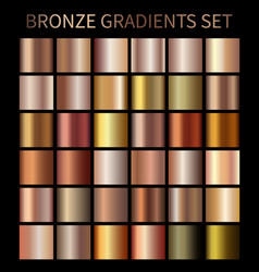 bronze gold gradients vector image vector image