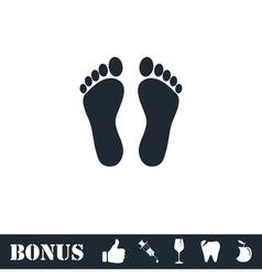 Footprint icon flat vector image