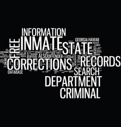 free inmate criminal records text background word vector image