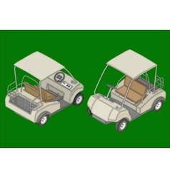 Golf cart isometric flat vector image