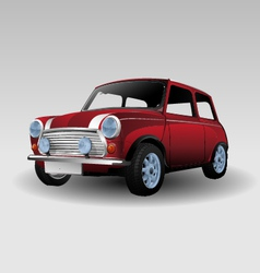 Mini red car vector image