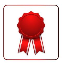 Ribbon award icon red 1 vector image vector image
