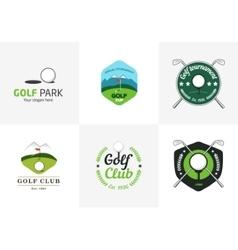 Set of vintage color golf championship logos vector image