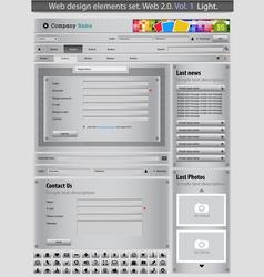 web design elements set silver 1 vector vector image