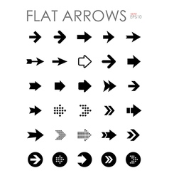 Flat arrow icons set vector image