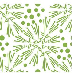 green floral dandelion seamless pattern background vector image vector image