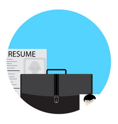Job search icon for application vector