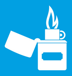 lighter icon white vector image