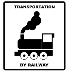 Passenger and cargo transportation by railways vector