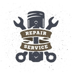 Piston and spanners hand drawn vector image vector image