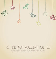 Valentine funny card vector image vector image