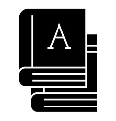 books - text books icon vector image